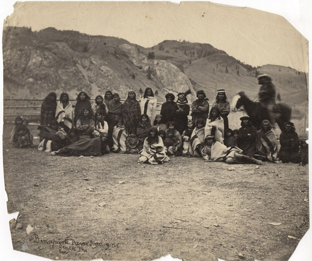 Group of Camloops Indians. [1860-1885?]. Carlo Gentile. Uno Langmann collection.