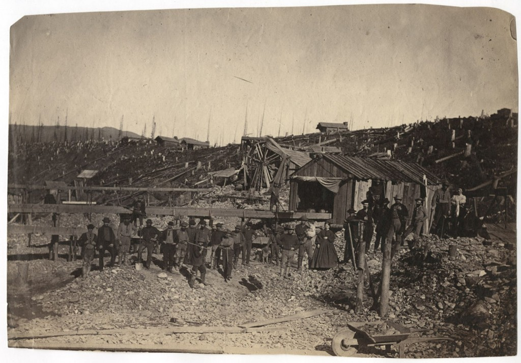 The Cameron Claim, 1/2 mile below Barkerville. [1860-1885?]. Carlo Gentile. Uno Langmann collection.