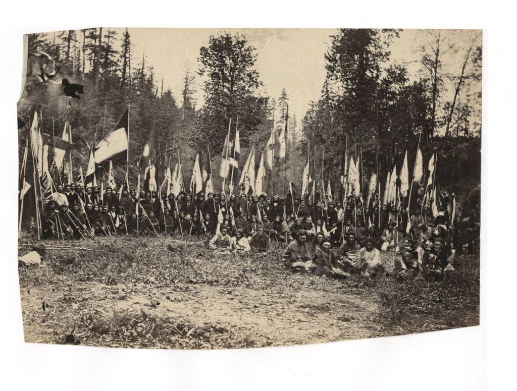 Group of Fraser River Indians. [1860-1885?]. Carlo Gentile. Uno Langmann collection.
