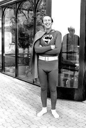 George Pedersen in Superman costume