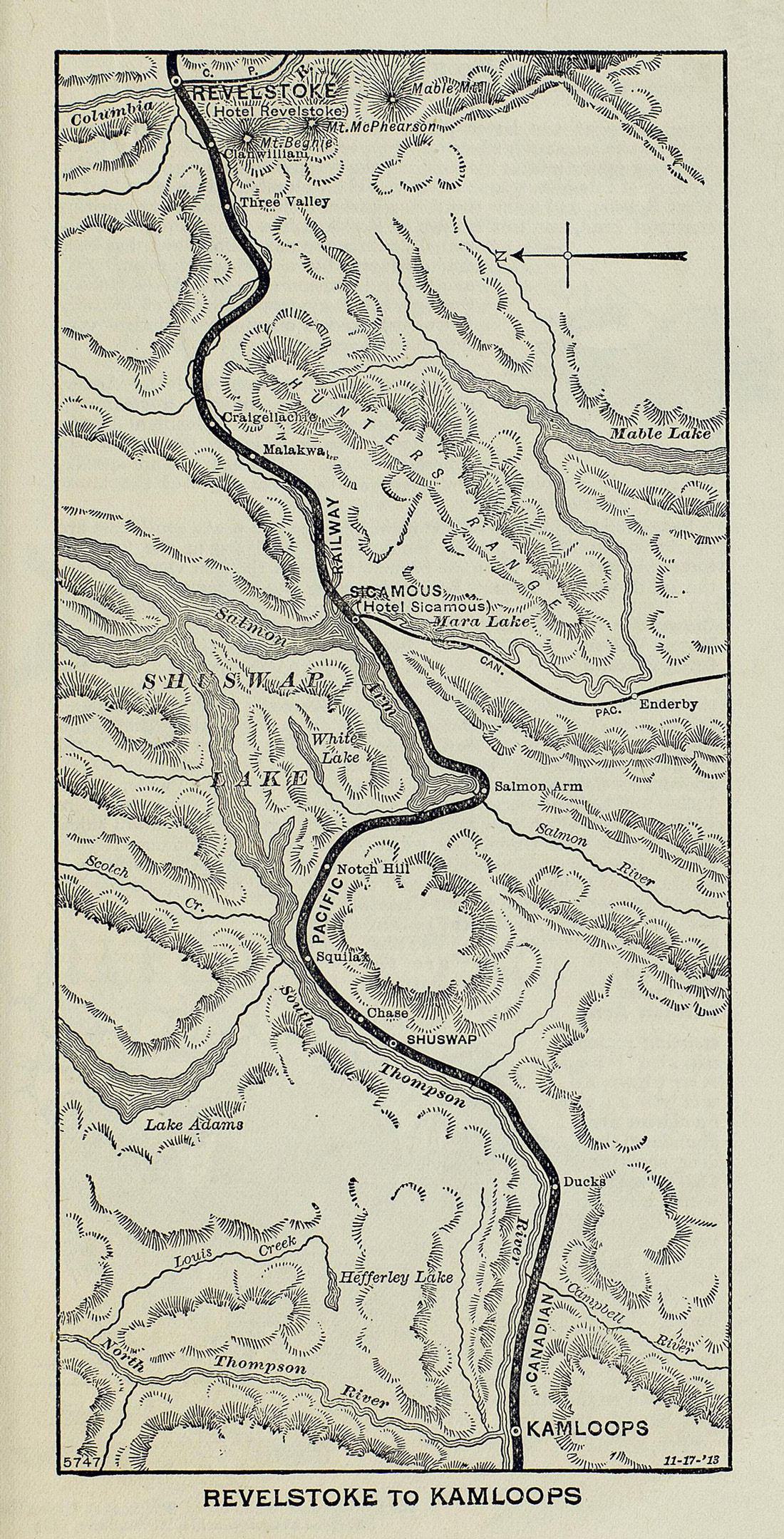 Map Of Sicamous Bc Canada Canadian Pacific Railway hotels in B.C.: Part 2 | Digitization Centre